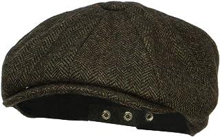 GordonKo Retro Newsboy Hat Men Patchwork Wool Knitted Hat Cabbie Flat Caps