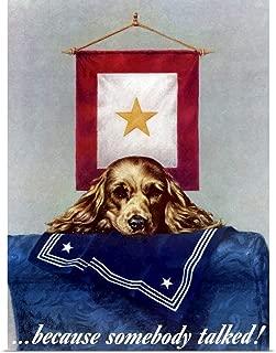 GREATBIGCANVAS Poster Print Digitally Restored Vector war Propaganda Poster. Because Someone Talked! by John Parrot 12