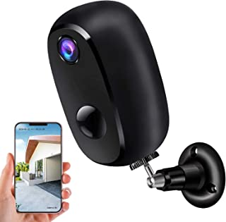 Security Camera Outdoor Wireless, Surveillance Rechargeable Battery-Powered WiFi 1080P Camera, PIR Motion Detection, 2Way ...