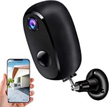 Security Camera Outdoor Wireless, Surveillance Rechargeable Battery-Powered WiFi 1080P Camera 10000mAh, PIR Motion Detecti...