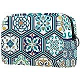 Bolsa cosmética portátil de viaje bolsa de almacenamiento, partición ajustable, utilizado para maquillaje cepillo cosméticos, dragón