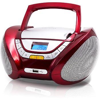 Boombox Media-Tech tragbarer Lautsprecher 15W Stereo MicroSD Bluetooth Mp3 LCD
