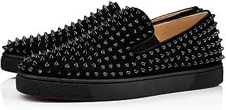 [クリスチャン ルブタン] ローラーボートのスパイク装飾スリップオントレーナー Men`s Sneakers (並行輸入品)