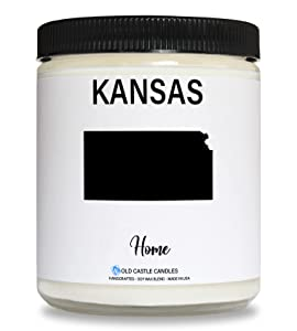 Kansas Candle, Homesick Gift, Personalized College Dorm Decor, 8 ounce