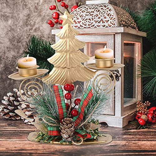 Abofan - Portavelas de Navidad (metal, diseño de árbol de Navidad, con...