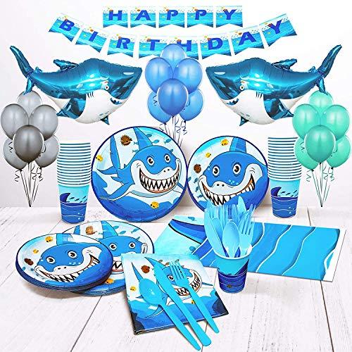 Shark Birthday Decorations, Shark Balloons, Shark Party Decorations Set of 16 Birthday Party Decorations