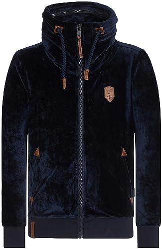 Naketano Ivic Mack IV Male Zipped veste Dark bleu, M