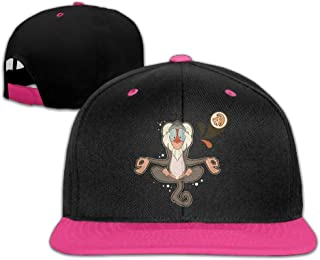 Reteone Unisex Baseball Caps Lovely Baboon Sit in Meditation Snapback Hats Sports Cap