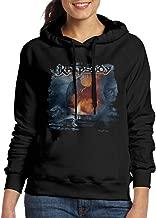 FUOCGH Women's Pullover Rhapsody Of Fire Hooded Sweatshirt Black