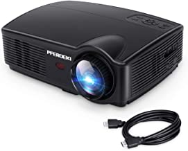Business Projector, PFERDEKI 4500LM LED 1080p Full HD Office Video Projector for PowerPoint Presentation with HDMI VGA VA USB for PC Smartphone Computer iPad DVD TV (4500LM)