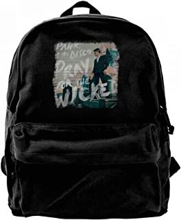 WilliamWButler Panic! At The Disco Pray The Wicked キャンバス バックパック メンズ レディース ファッション ワーク バッグ 旅行 リュックサック ブラック