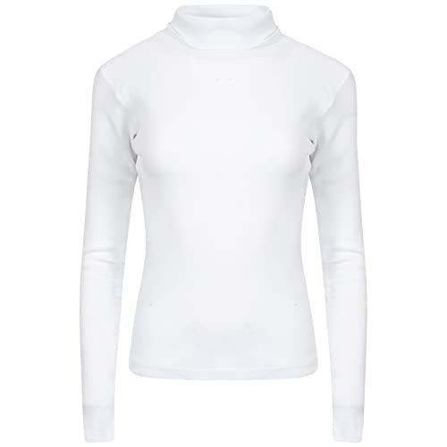 a0d5670c66 Get The Trend Womens Rib Polo Neck Top Ladies Ribbed Stretch Roll Neck Long  Sleeve Jumper
