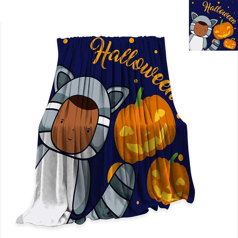 Anniutwo Warm Microfiber All Season Blanket Halloween and Kids Cartoons 70 x50