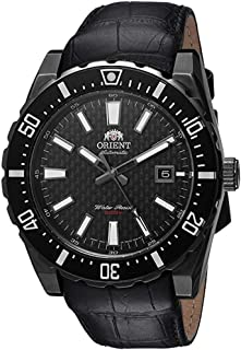 Men's ' Nami Japanese Automatic Stainless Steel and Leather Diving Watch