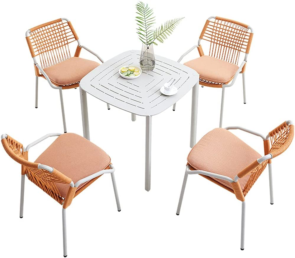 Outdoor Patio Furniture New mail order Sets 5-Piece C All-Weather Luxury goods Rope Braided