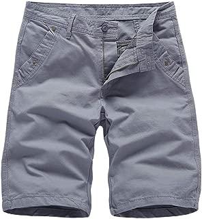Giulot Mens Classic Fit Perfect Short Big and Tall Elastic-Waist Pleated Cotton Print Twill Shorts
