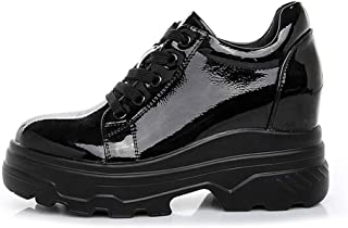 レディース 厚底スニーカー ファッジョン 白 韓国風 レディースシューズ ランニングシューズ 黒 白 歩きやすい 痛くない 厚底 プラットフォーム 黒 スポーティ カジュアル 快適 クッション 小さいサイズ 22cm 脚長