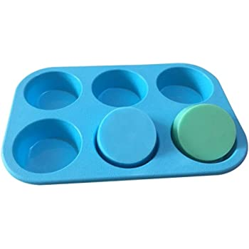 Allforhome 6 Round Silicone Cake Baking Mold Cake Pans Muffin Cups Handmade Soap Molds Bath Bomb Biscuit Chocolate Ice Craft Art Soap Mousse Cake DIY Mold