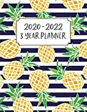 3 Year Planner: 3 Year Calendar Planner for January 2020 - December 2022, Includes Contacts + Notes Page, 36 Month Planner, 3 Year Monthly Planner + ... Pineapple, Tropical, Blue, Navy, Stripes