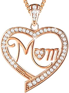 Ado Glo Christmas Birthday Gifts for Her, Mom, Nana, Aunt Love Heart Pendant Necklace, Rose Gold Fashion Jewelry for Women, Anniversary Xmas Presents for Auntie, Grandma, Mother