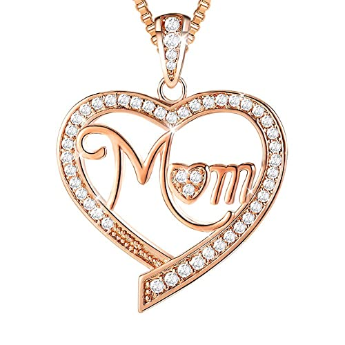 d3679ebdb Ado Glo ❤️Mother's Birthday Gifts❤️ Mom, Nana, Aunt Love Heart Pendant  Necklace