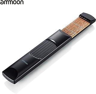 ammoon Portátil de Bolsillo de la Guitarra Acústica Herramienta Práctica Acorde Gadget Entrenador de 6 Secuencias 6 Fret Modelo para el Principiante