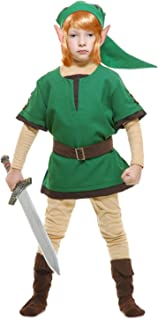 Charades Child's Elf Warrior Costume, Green, Large