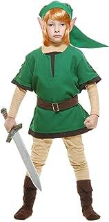 Charades Child's Elf Warrior Costume, Green, Medium