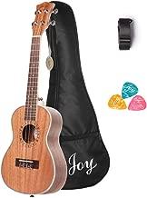 Joy 314 24 Inch Concert Mahogany Ukulele, Walnut fingerboard and bridge and with free Bag,Strap,3pcs of Picks