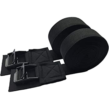 YITAMOTOR Lashing Straps 1x 12 Tie Down Strap Cargo Tie-Down Strap up to 600lbs for Roof-top Cam Lock Buckle 6 Pack In Carry Bag