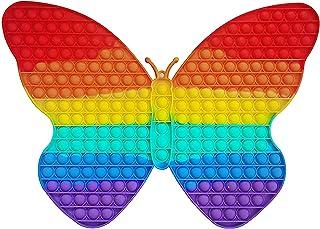 Xizheng Butterfly Rainbow Push Pop it Bubble Sensory Fidget Toy