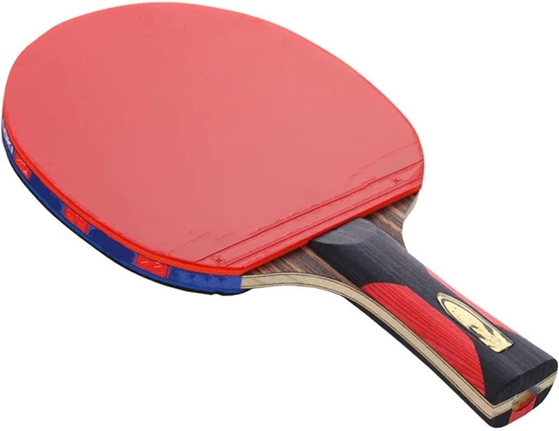 ZFQZKK Ping Pong Paddle Tenis Raqueta Piso All-Round Racket Light Body Body Artículos Deportivos Sacude Hands Hands Hands Juego de Ping Pong (Size : 15x24cm)