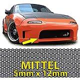 Carparts-Online 26432 Alu Gitter Renngitter Wabengitter Racegitter Alu 150X30cm schwarz Mittel