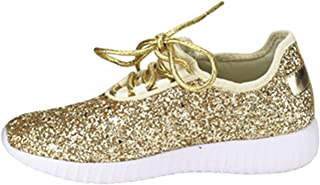SF Forever Link Remy-18 Women s Jogger Sneaker-Lightweight Glitter Quilted  Lace Up Shoes d0785488adc