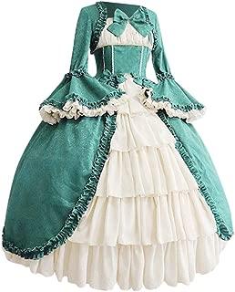 Miuye yuren Women's Victorian Fancy Dress Gothic Pageant Dress Retro Medieval Cosplay Dresses Renaissance Costumes