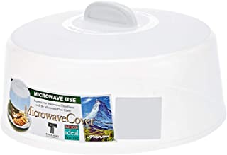 MICRONEWARE 2724623319490 Microwave Cover, White, Mixed Material