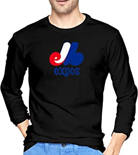Montreal Expos Men's Stylish Long Sleeve Sports Funny Round Collar T-Shirt Breathable ColorName