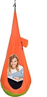 GR Child Sitting Hammock, Swing Chair Hanging Seat Hammock for Indoor and Outdoor Use(Orange)