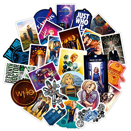 ZXXC American Tv Series Doctor Who Suitcase Trolley Case Graffiti Stickers 50 Sheets