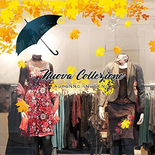 kina UVNC0037 Wandaufkleber aus der Winterkollektion – Autumn Color – Maße 100 x 30 cm – Glasvetrine Negozi, Stickers, Aufkleber