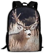 BSYWBSJ Large Mule Deer Big Antler Rack Animal Travel Notebook Fashionable Backpack, University Campus Computer Backpack, Comfortable and Waterproof, Men and Women General Purpose