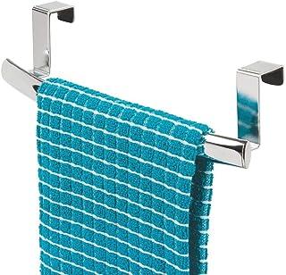 mDesign accroche-torchon incurvé – porte-serviette à accrocher à la porte de l'armoire de cuisine – accroche-serviettes de...