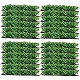Yaegoo 24-Pack 10'x10' Artificial Boxwood Hedge Mat UV Privacy Fence Screen Greenery Panel Outdoor Decor,Garden,Pawn