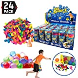 24 Pack - Refill Kits of Latex Water Balloons Bomb - Summer Water Balloon Fight,...
