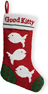 Celebrate the Home Christmas Hooked Stocking, 19.5-Inches Long, Good Kitty