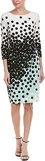 Tahari by Arthur S. Levine Women's 3/4 Sleeve Scoop Neck Sheath Dress