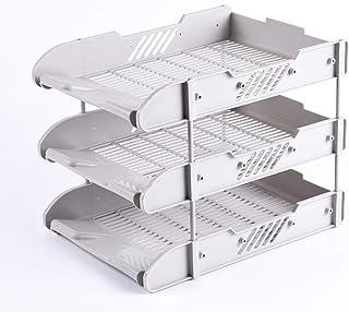 卓上収納 コンパクト 分格設計 大容量 小物入れ 雑品収納 多機能 軽量 小型 強い耐久性 A4 安定 文具収納 仕切り 業務用 オフィス収納 整理整頓 クリア 収納ケース 組み立て プラスチック製 24*32.*25cm グレー3