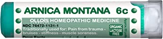 OLLOIS Arnica Montana Organic, Lactose Free Homeopathic Medicines, Arnica 6C for Pain Relief