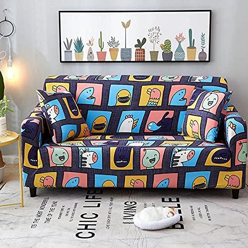 Funda de sofá elástica Funda de sofá Universal Suave Funda de sofá para Sala de Estar Funda de sofá Estilo decoración del hogar Funda A19 4 plazas