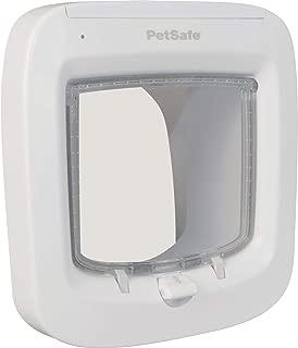 PetSafe Interior and Exterior Cat Door – 4-Way Locking, Big Cat or Microchip Pet Door – For Cats Up to 15 or 25 lb